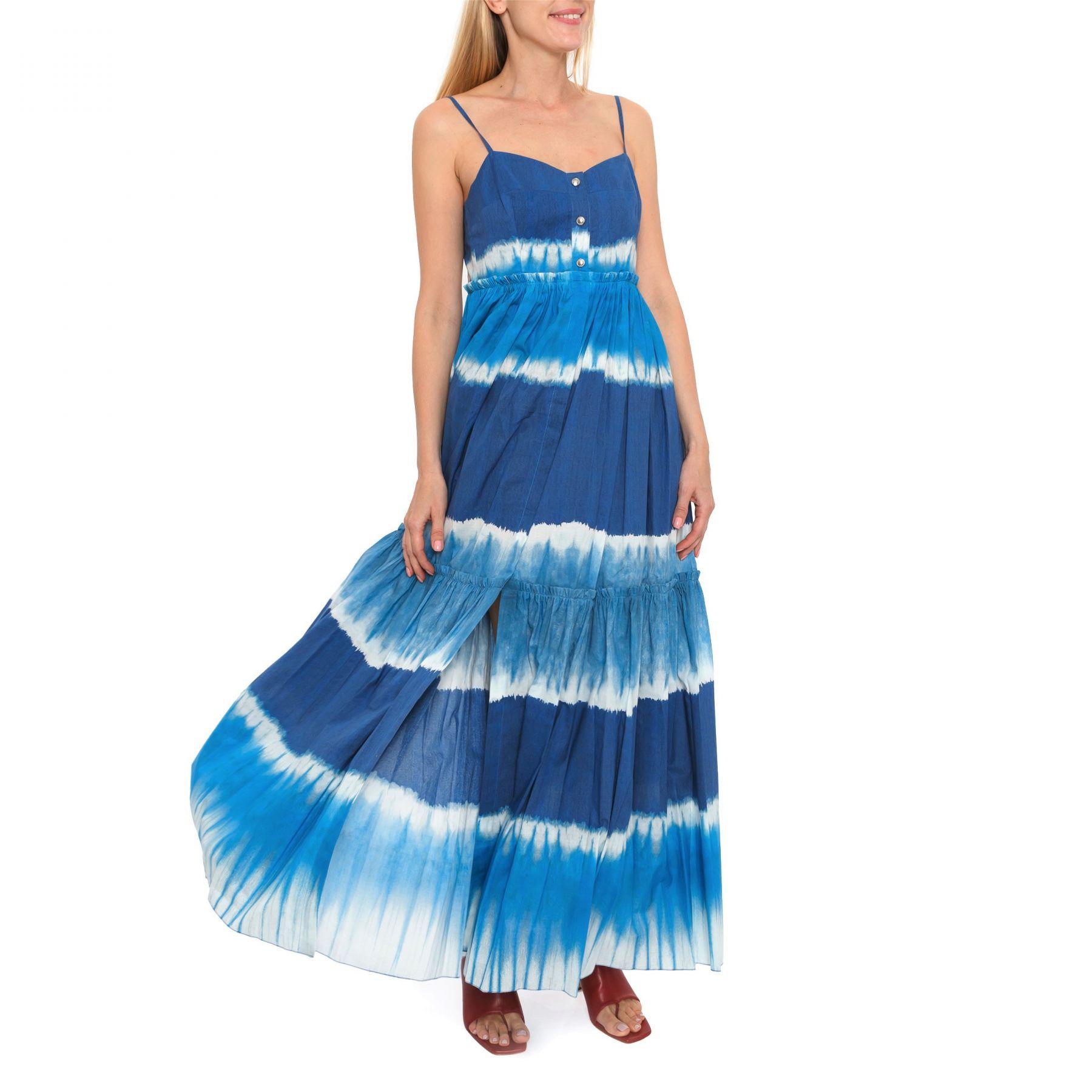 Сарафан Alberta Ferretti сине-голубой