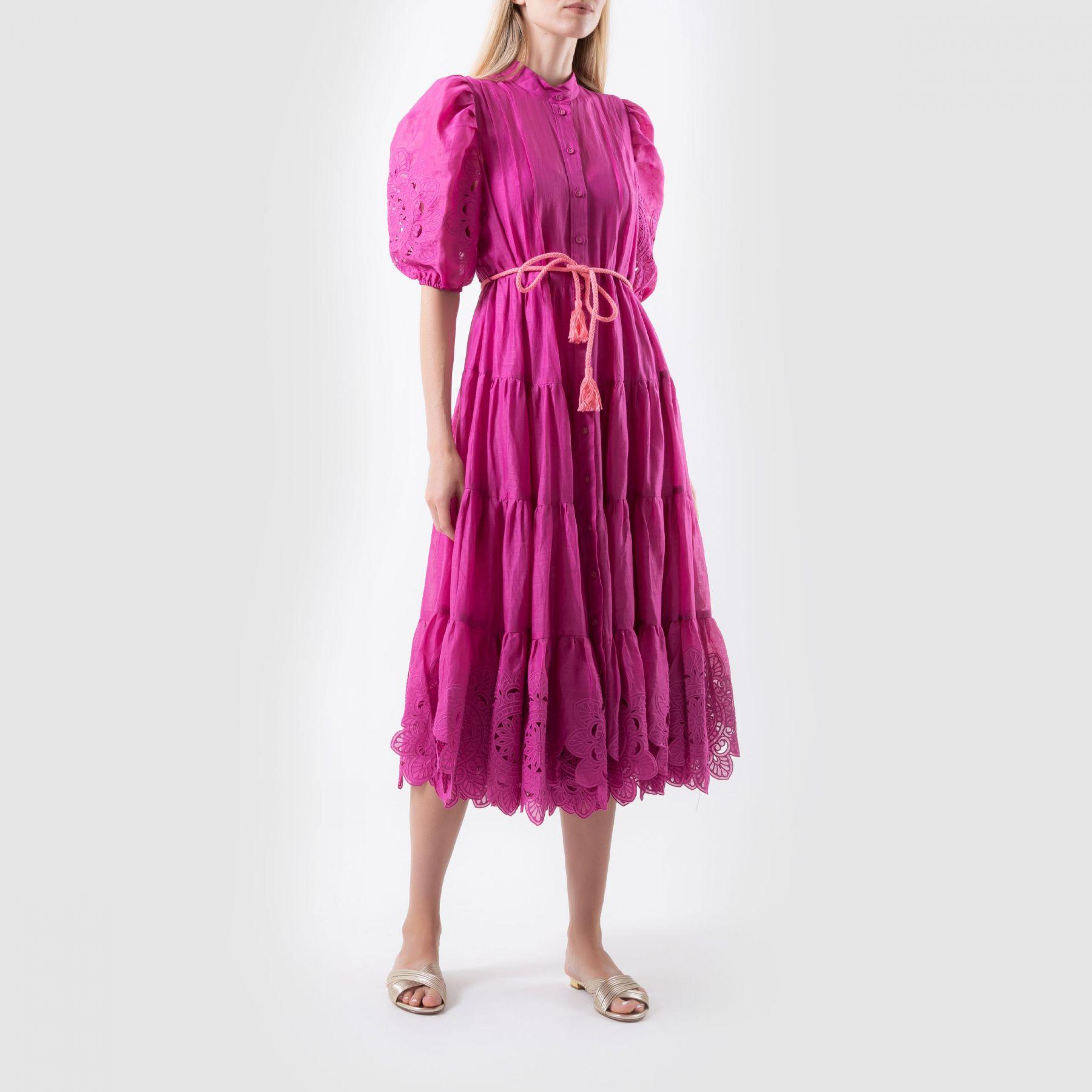 Платье Zimmermann TEDDY фуксия
