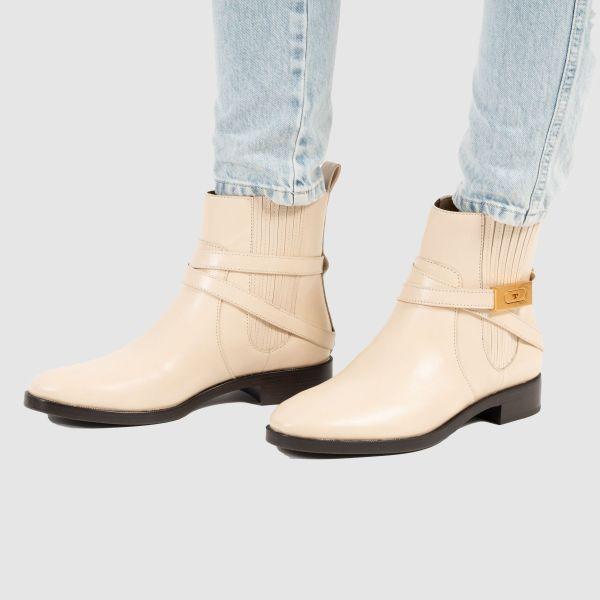 Ботинки Tory Burch T-HARDWARE молочные