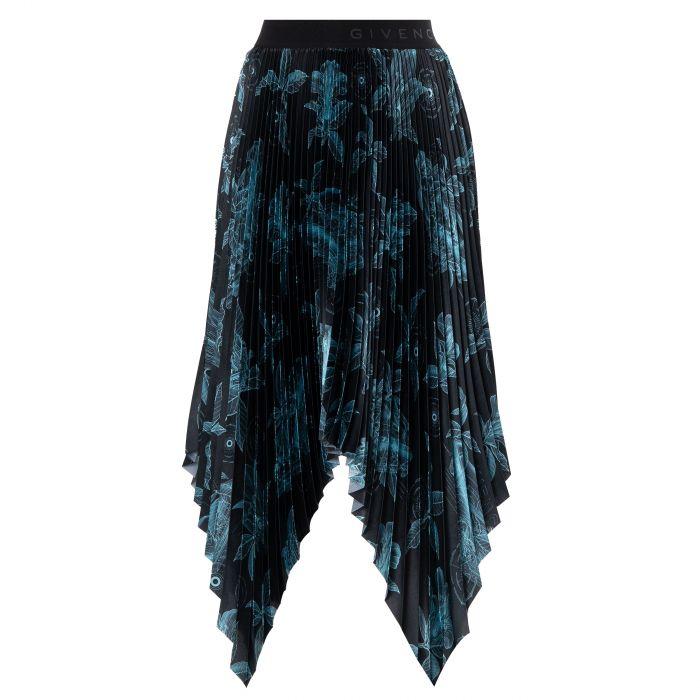 Юбка Givenchy черно-голубая