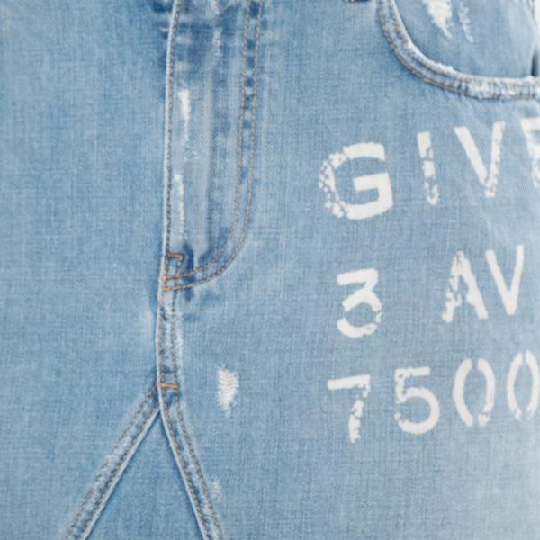 Юбка-мини Givenchy голубая
