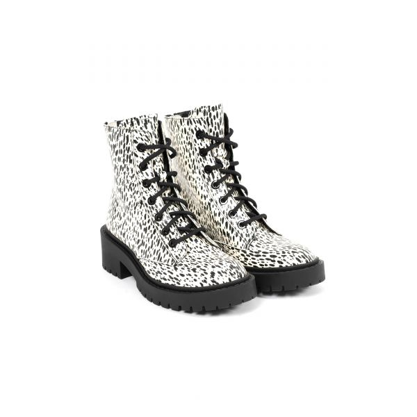 Ботинки флет Kenzo Pike черно-белые