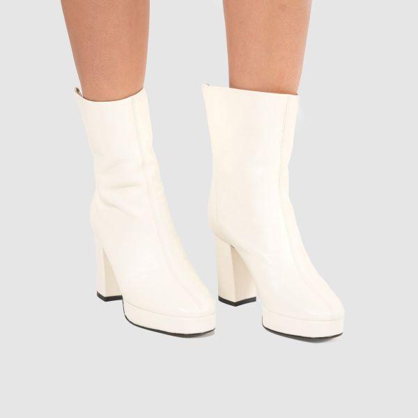 Ботильоны Kenzo Glove белые