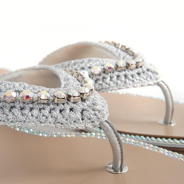Шлепанцы Le Silla Muriel серебряные
