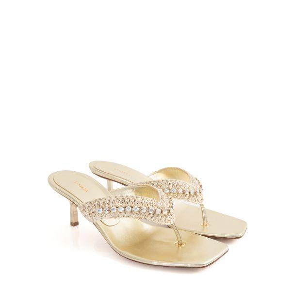 Мюли Le Silla Muriel золотые