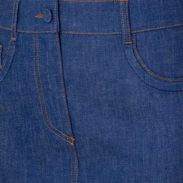 Юбка-мини Fendi синяя