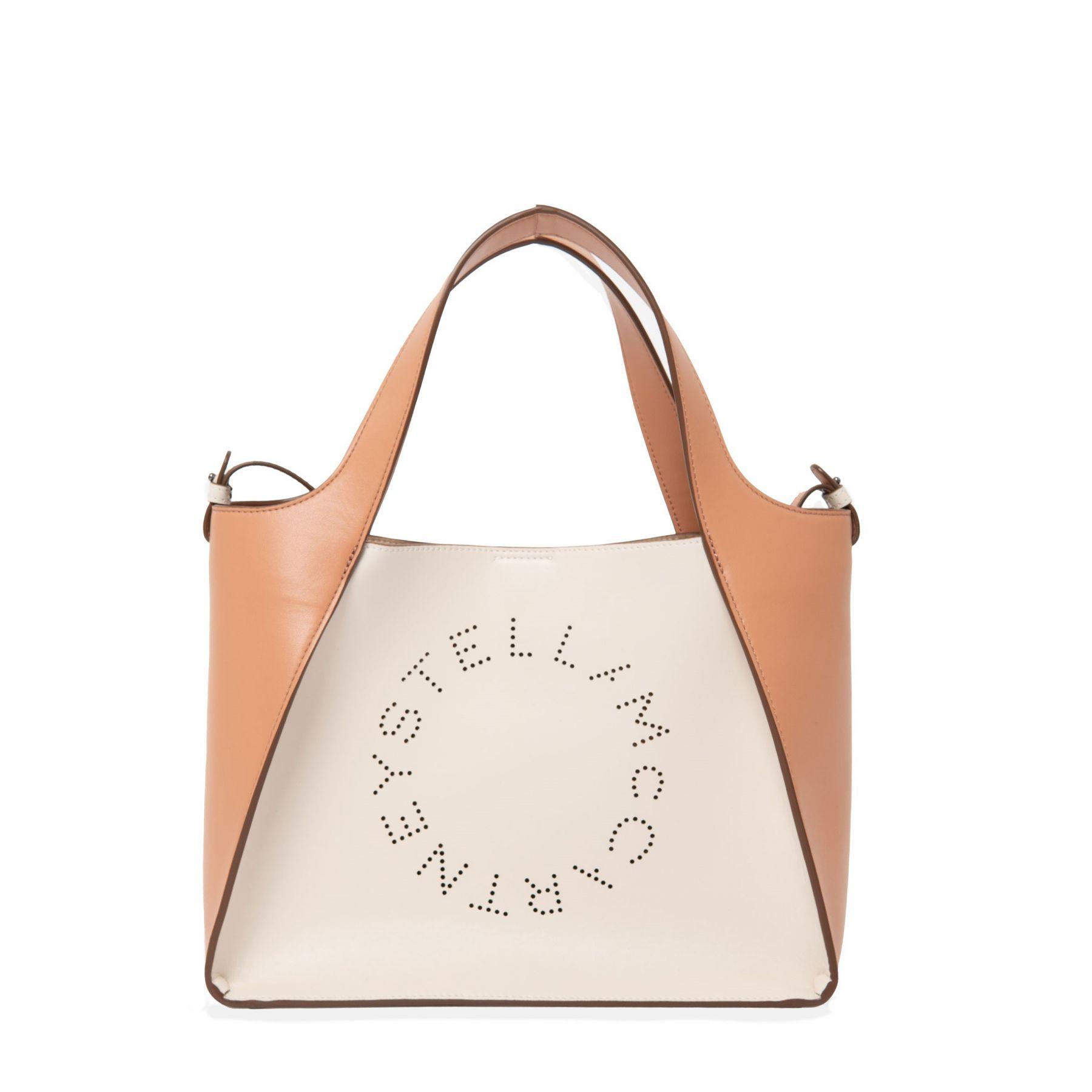 Сумка Stella McCartney Logo бежево-коричневая