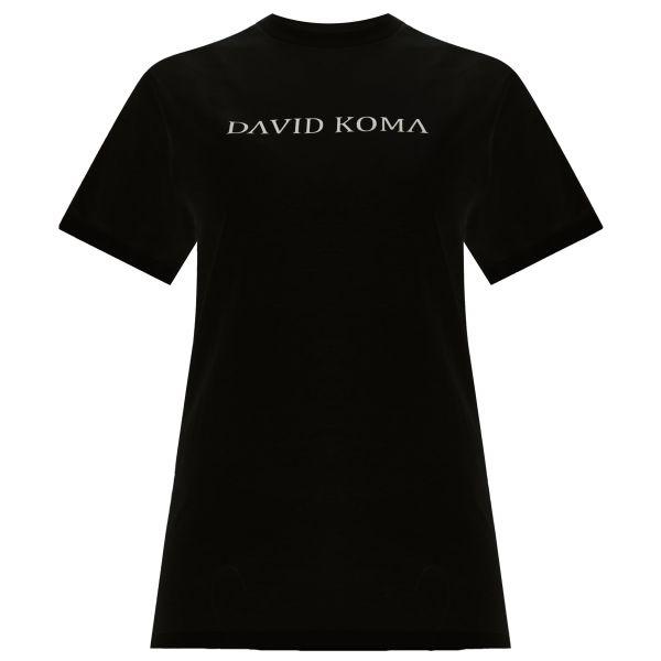 Футболка David Koma черная