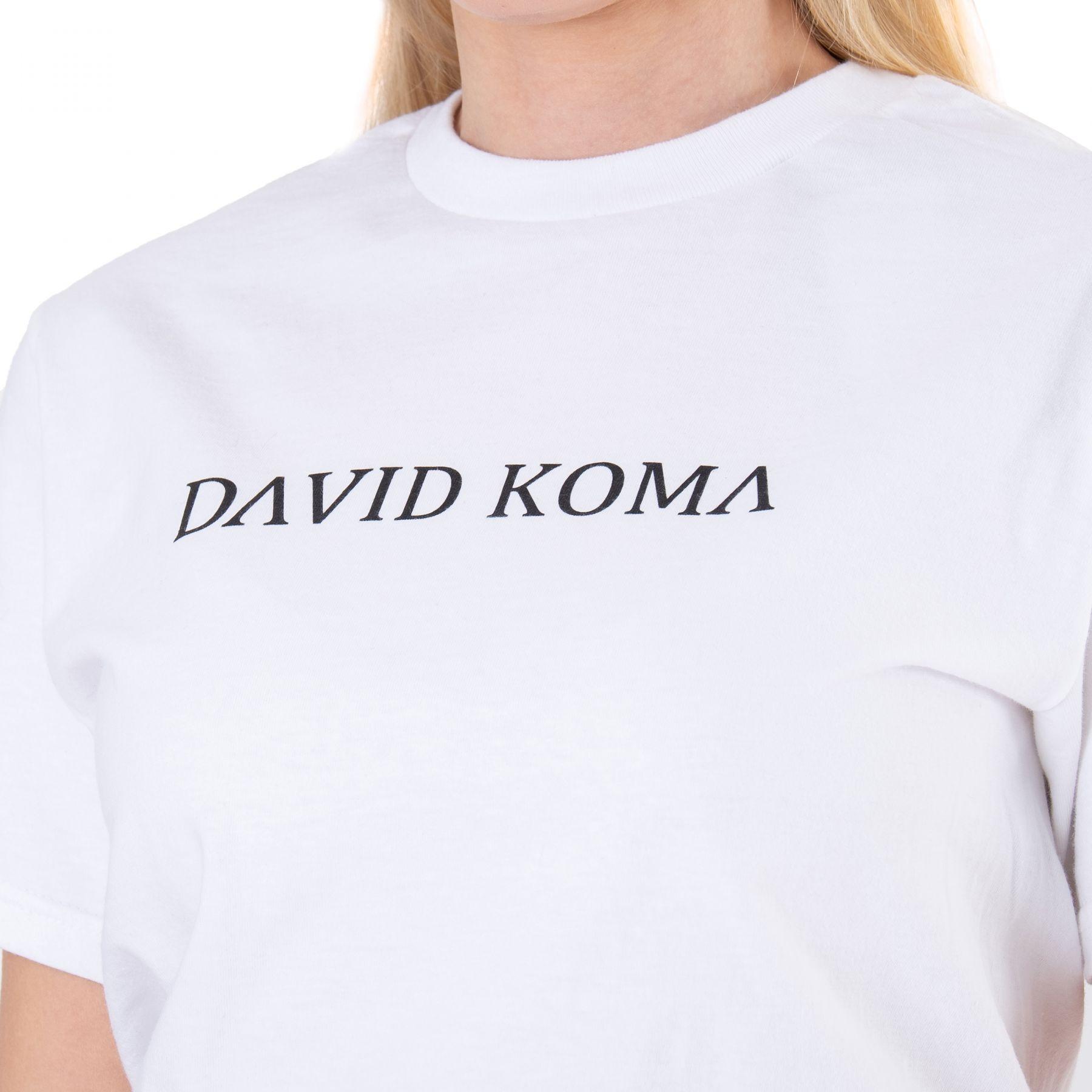 Футболка David Koma белая