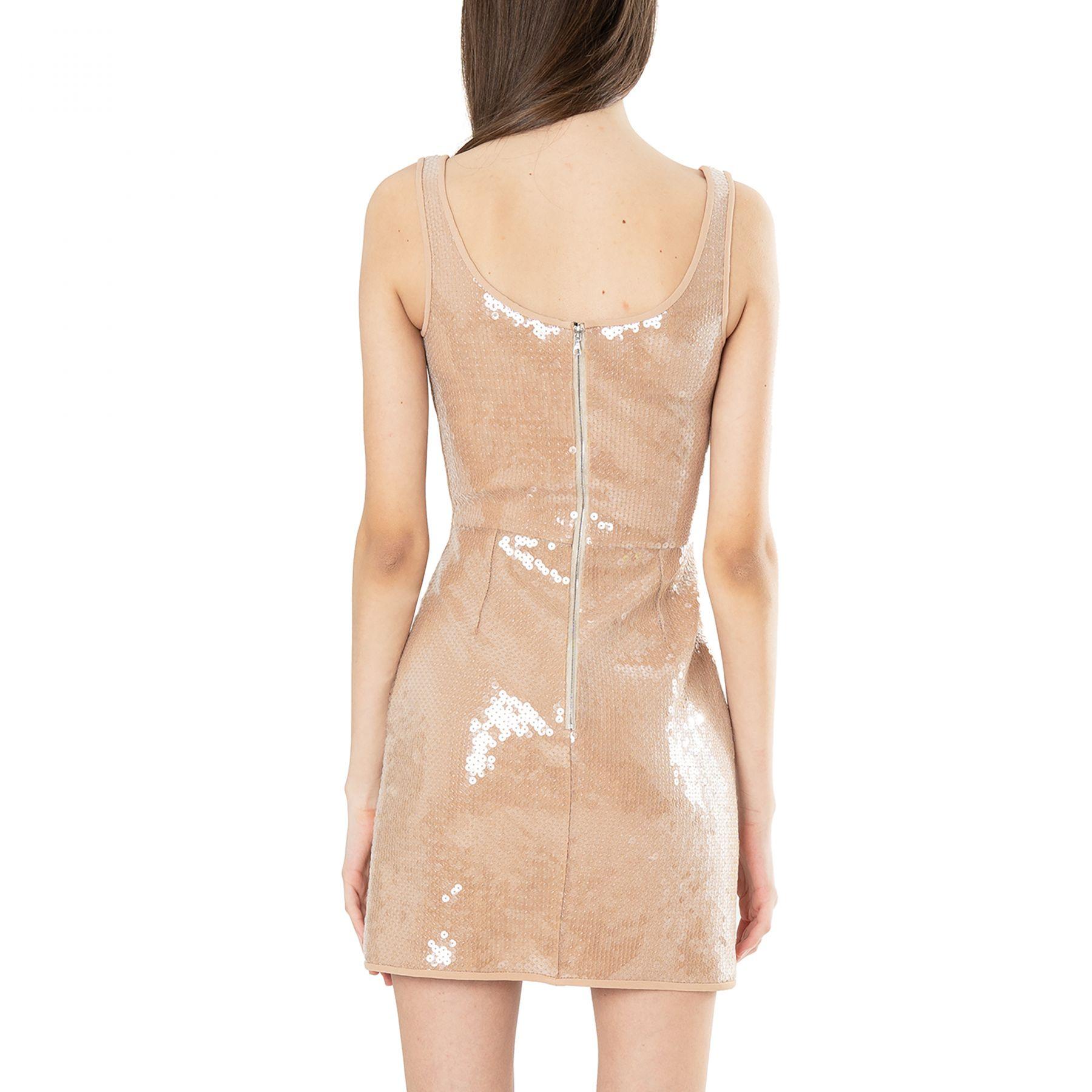 Платье David Koma бежевое