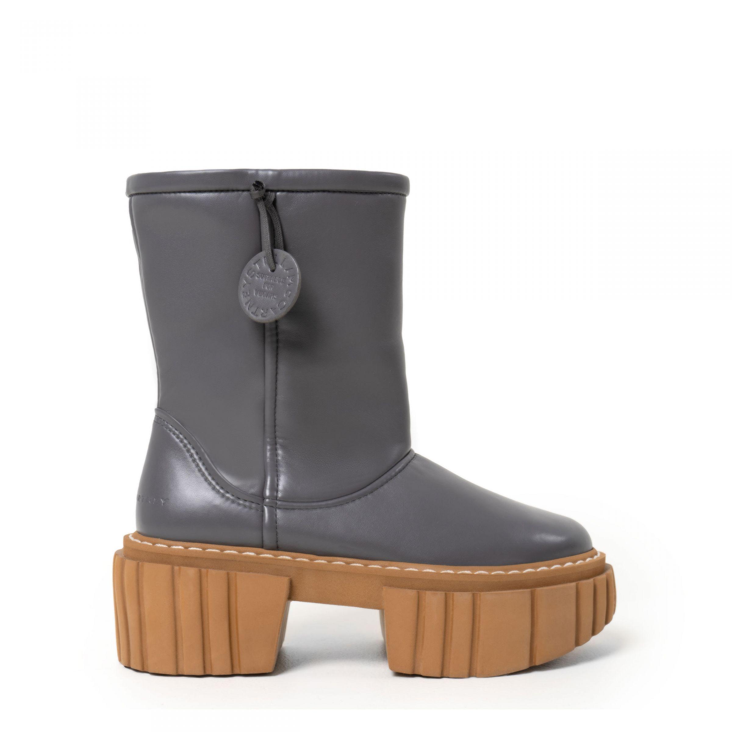 Ботинки флет на меху Stella McCartney серые