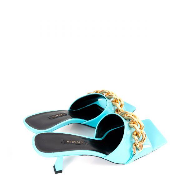 Сабо Versace MEDUSA CHAIN голубые