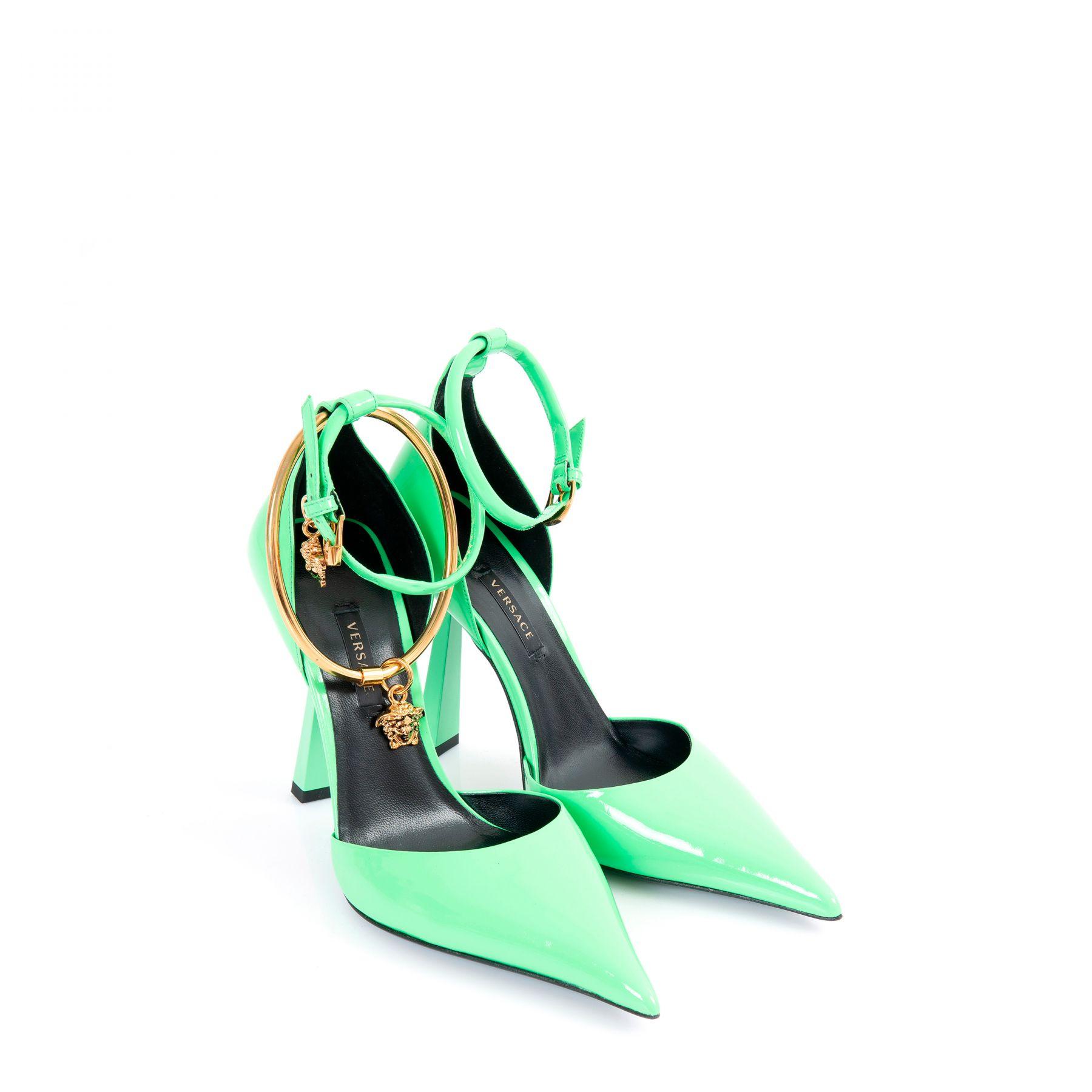 Туфли Versace MEDUSA AETERNITAS зеленые