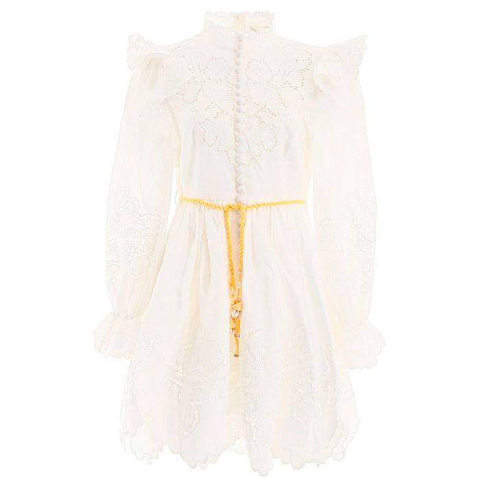 Платье Zimmermann Carnaby белое