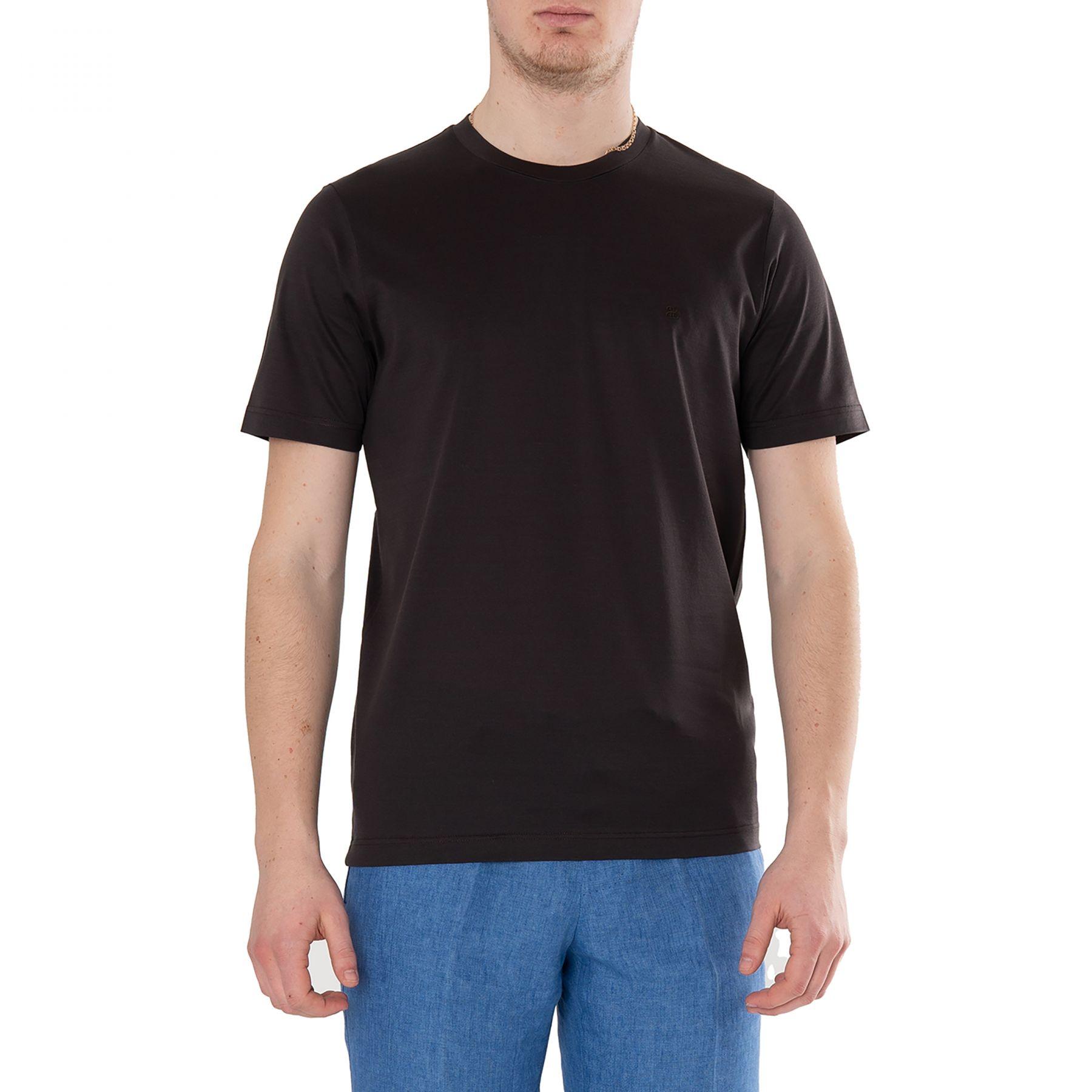 Футболка Bertolo Cashmere темно-коричневая
