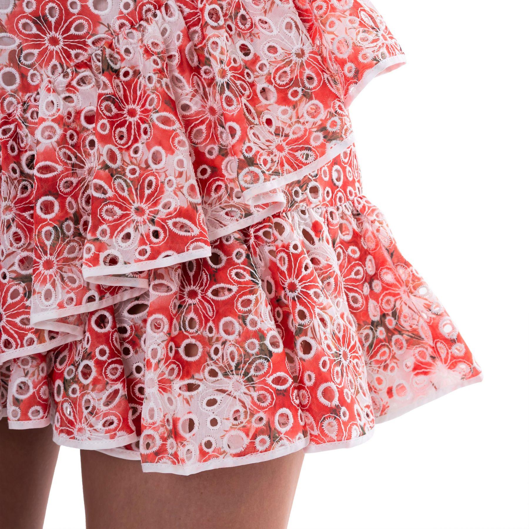 Платье Charo Ruiz красно-белое