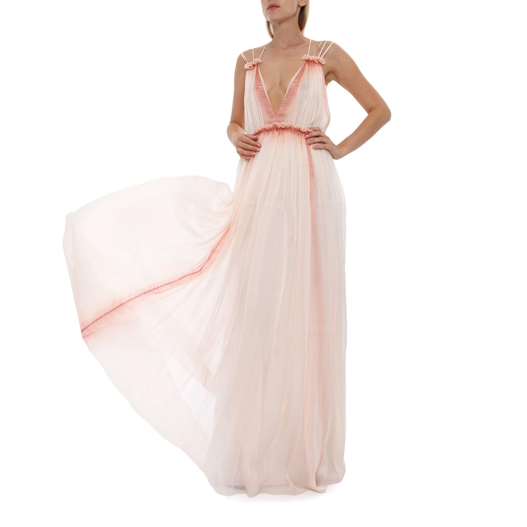 Платье Alberta Ferretti светло-розовое