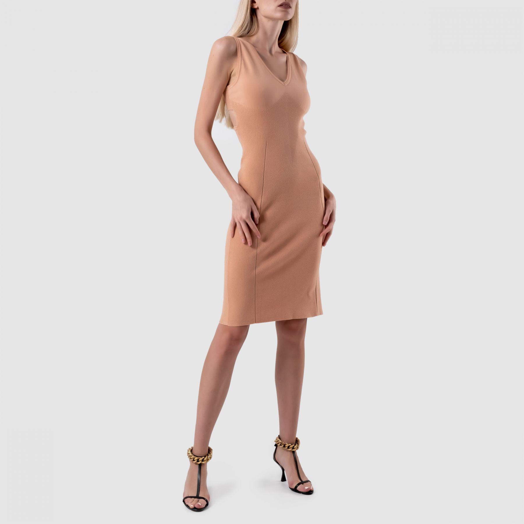 Платье Alberta Ferretti бежевое