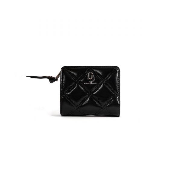 Портмоне Marc Jacobs The Quilted Softshot черное