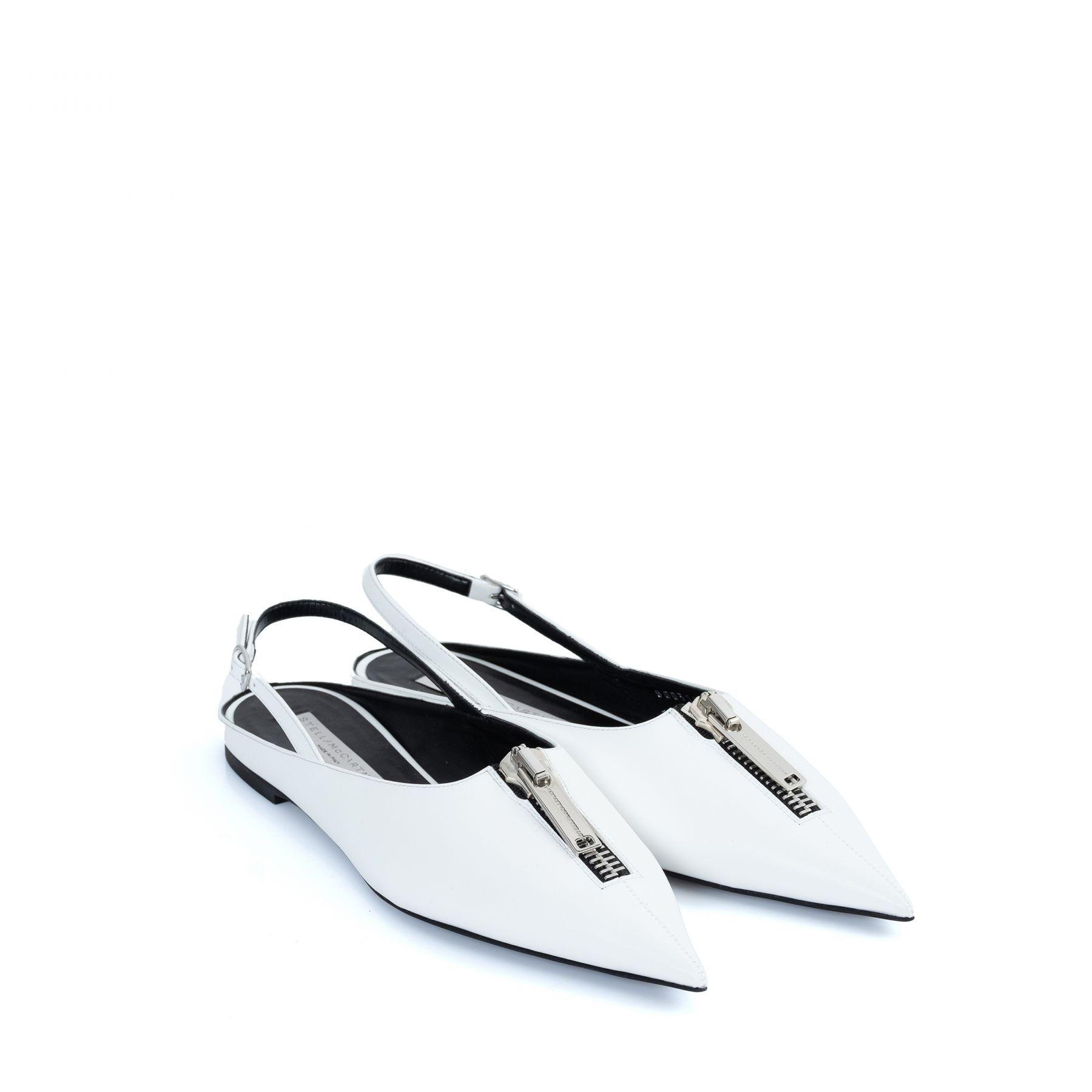 Туфли Stella McCartney Zipit белые