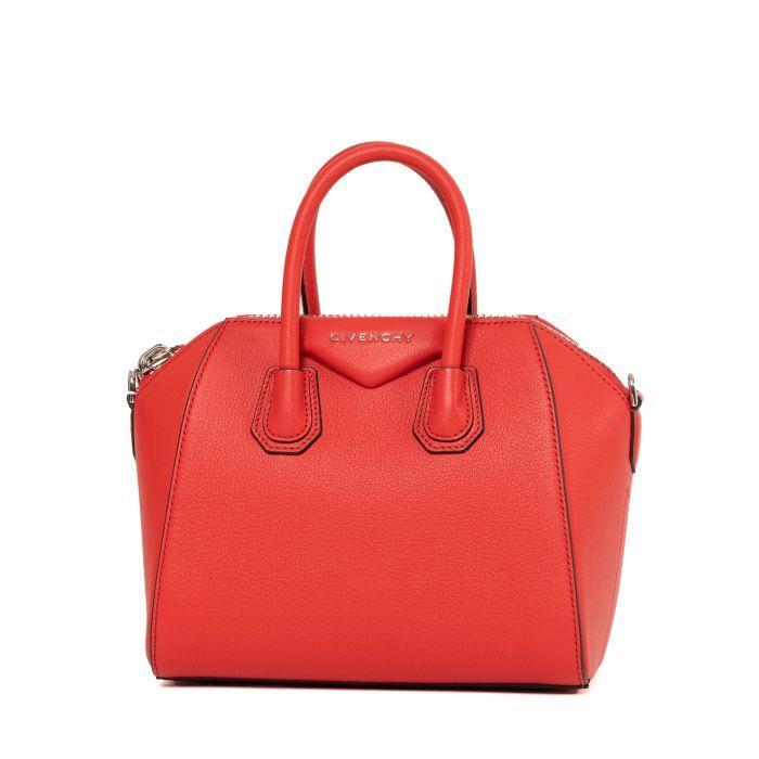 Сумка Givenchy Antigona Mini красная