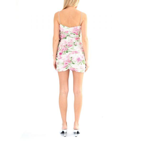 Платье Magda Butrym бело-розовое