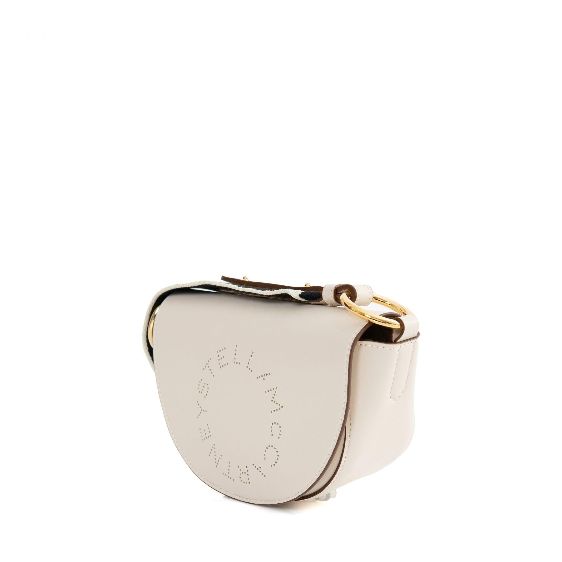 Сумка Stella McCartney Mini Marlee Logo кремовая