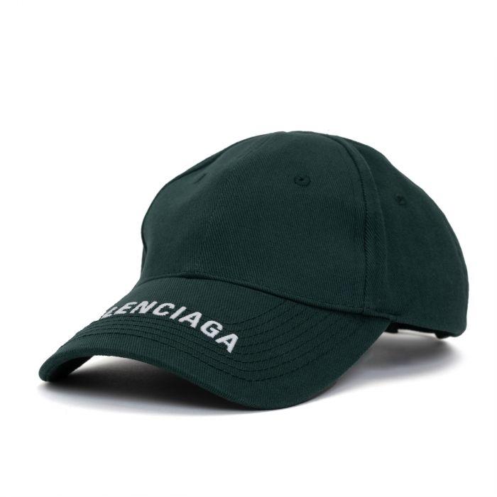 Бейсболка Balenciaga темно-зеленая