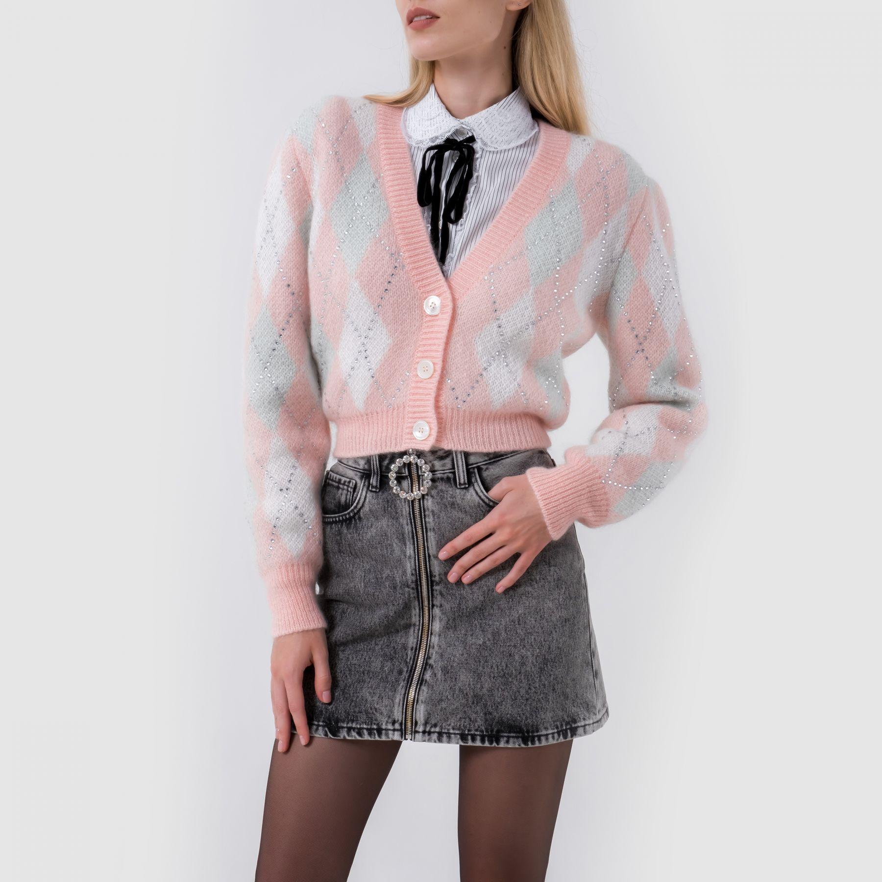 Кардиган Alessandra Rich розовый