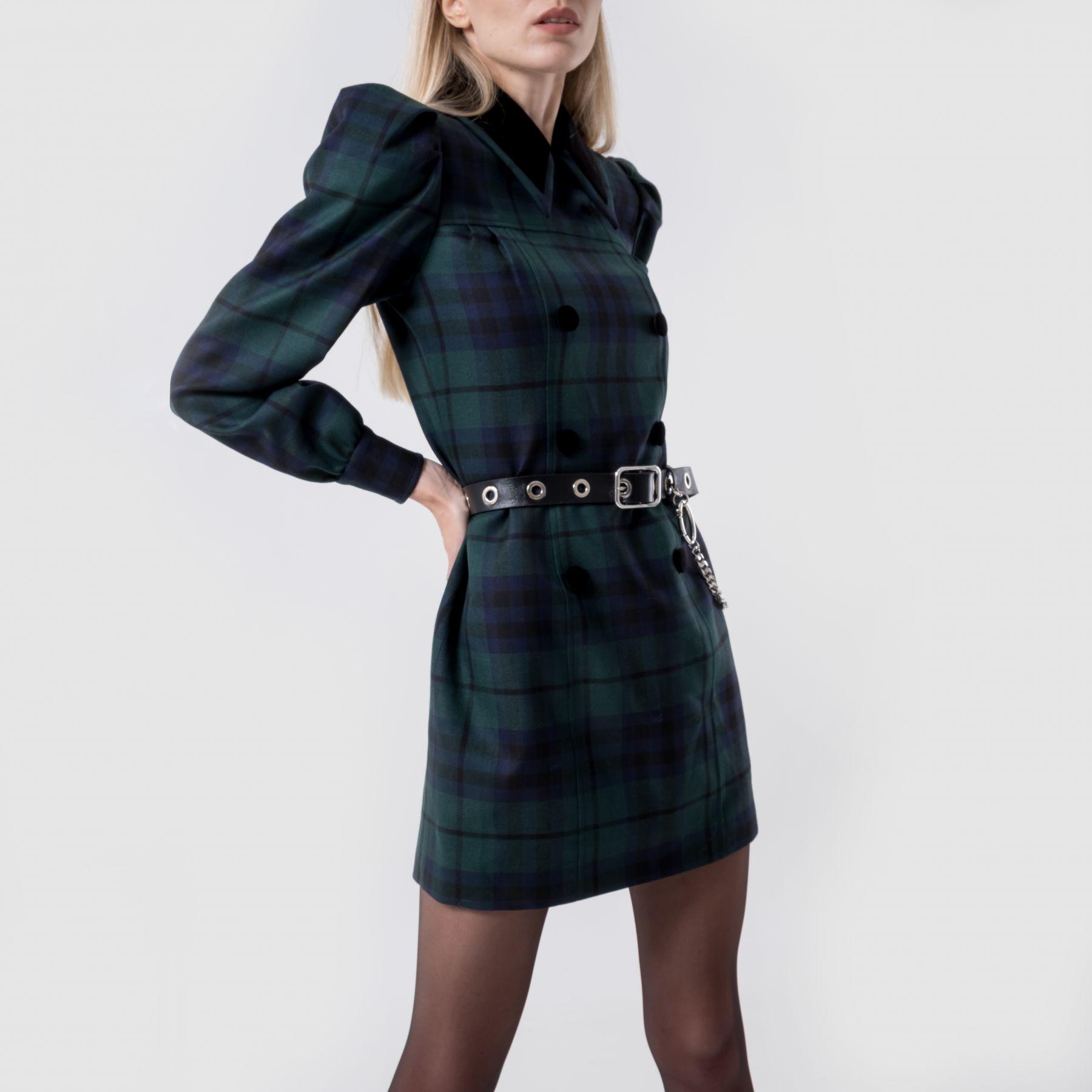 Платье Alessandra Rich зеленое