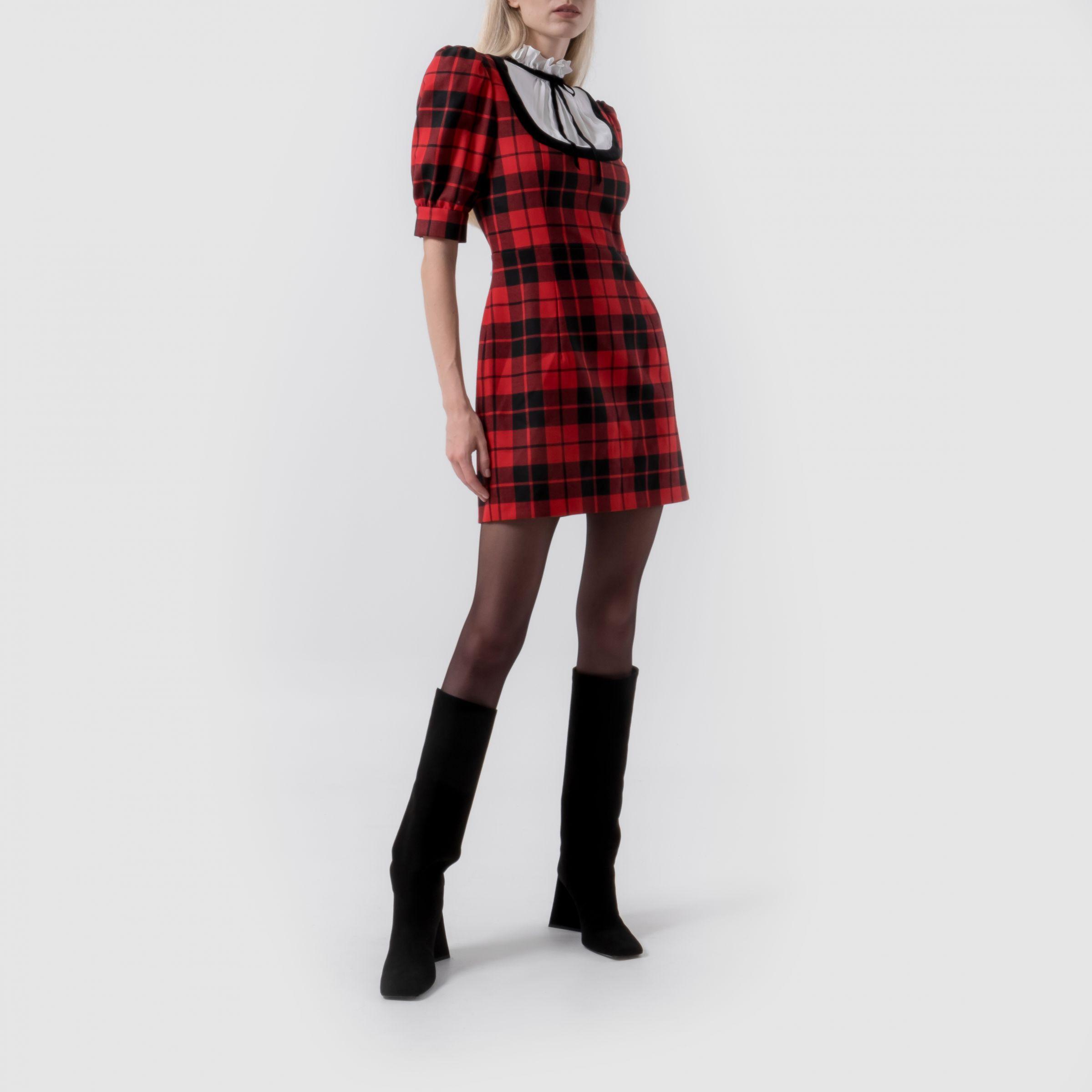 Платье Alessandra Rich красно-черное