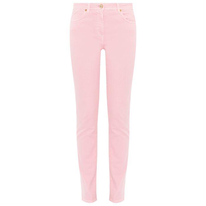 Джинсы Versace светло-розовые