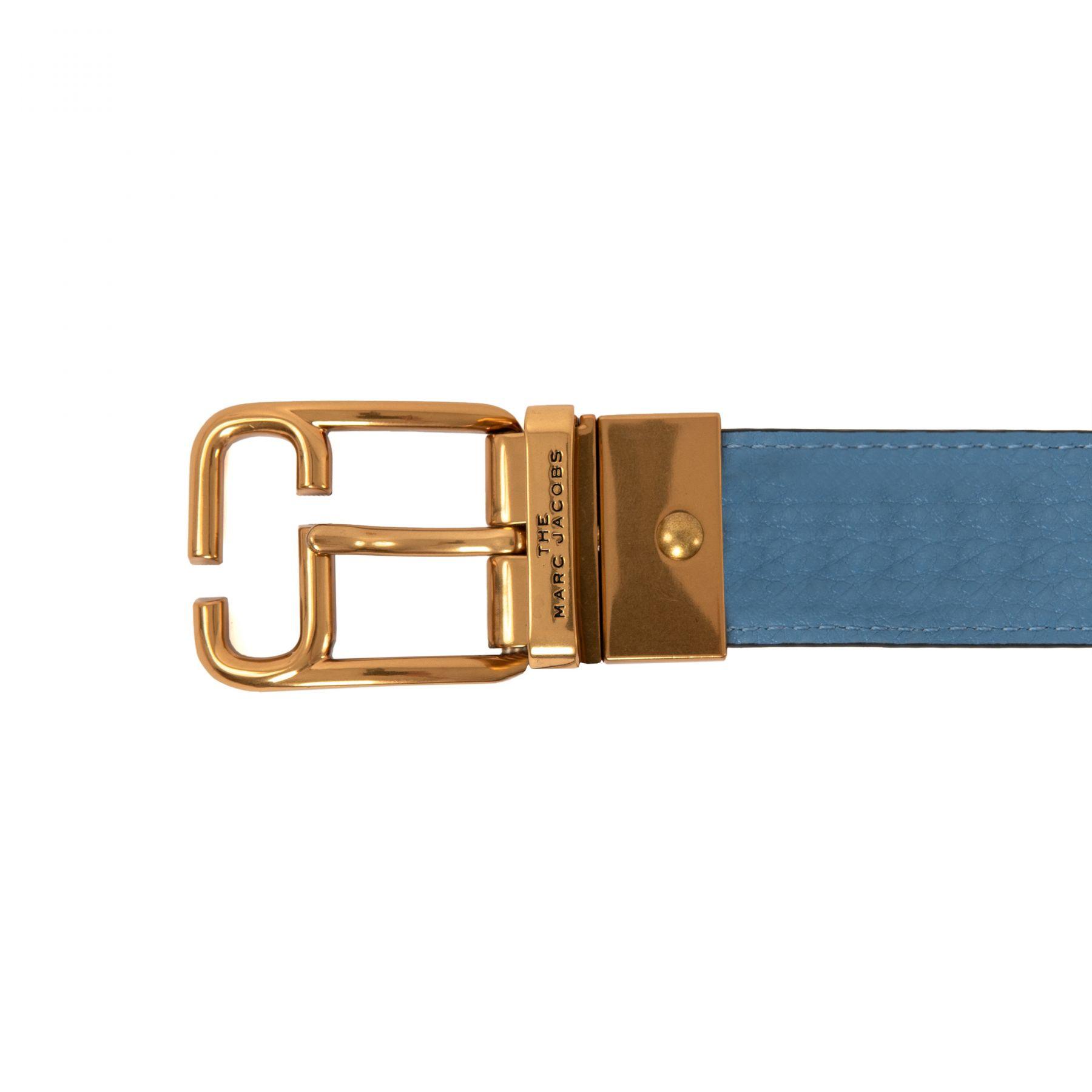 Ремень Marc Jacobs бежево-голубой