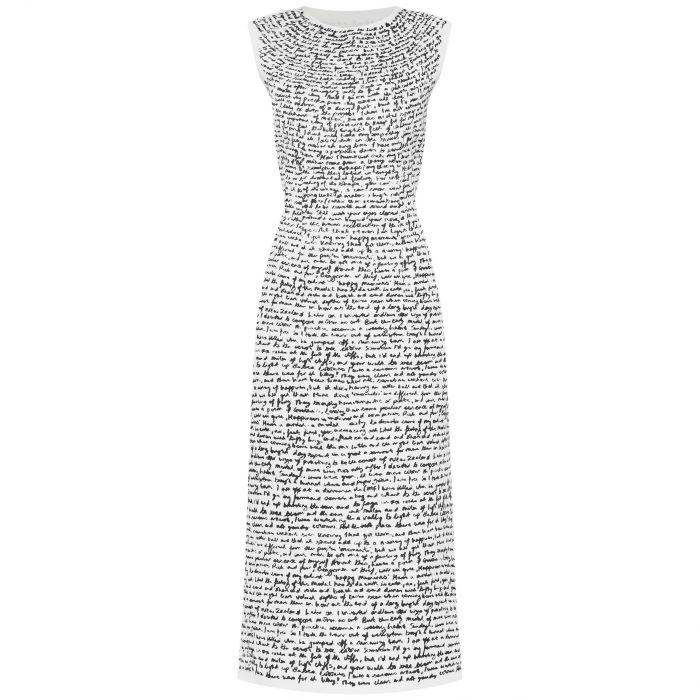 Платье Dries Van Noten бело-черное
