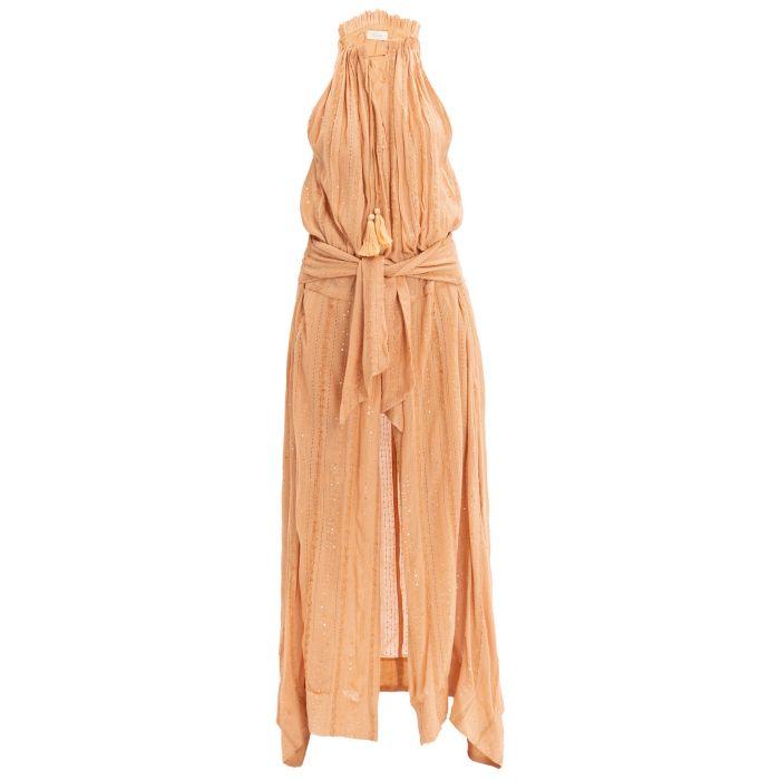 Платье Mes Demoiselles бежевое