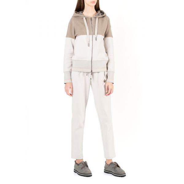 Спортивные брюки Lorena Antoniazzi молочные