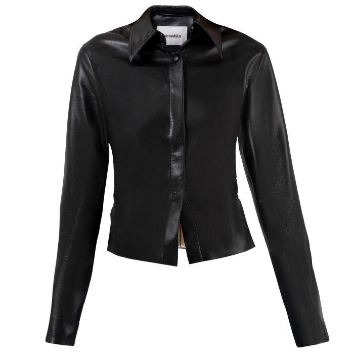 Рубашка с длинными рукавами Nanushka Shado черная