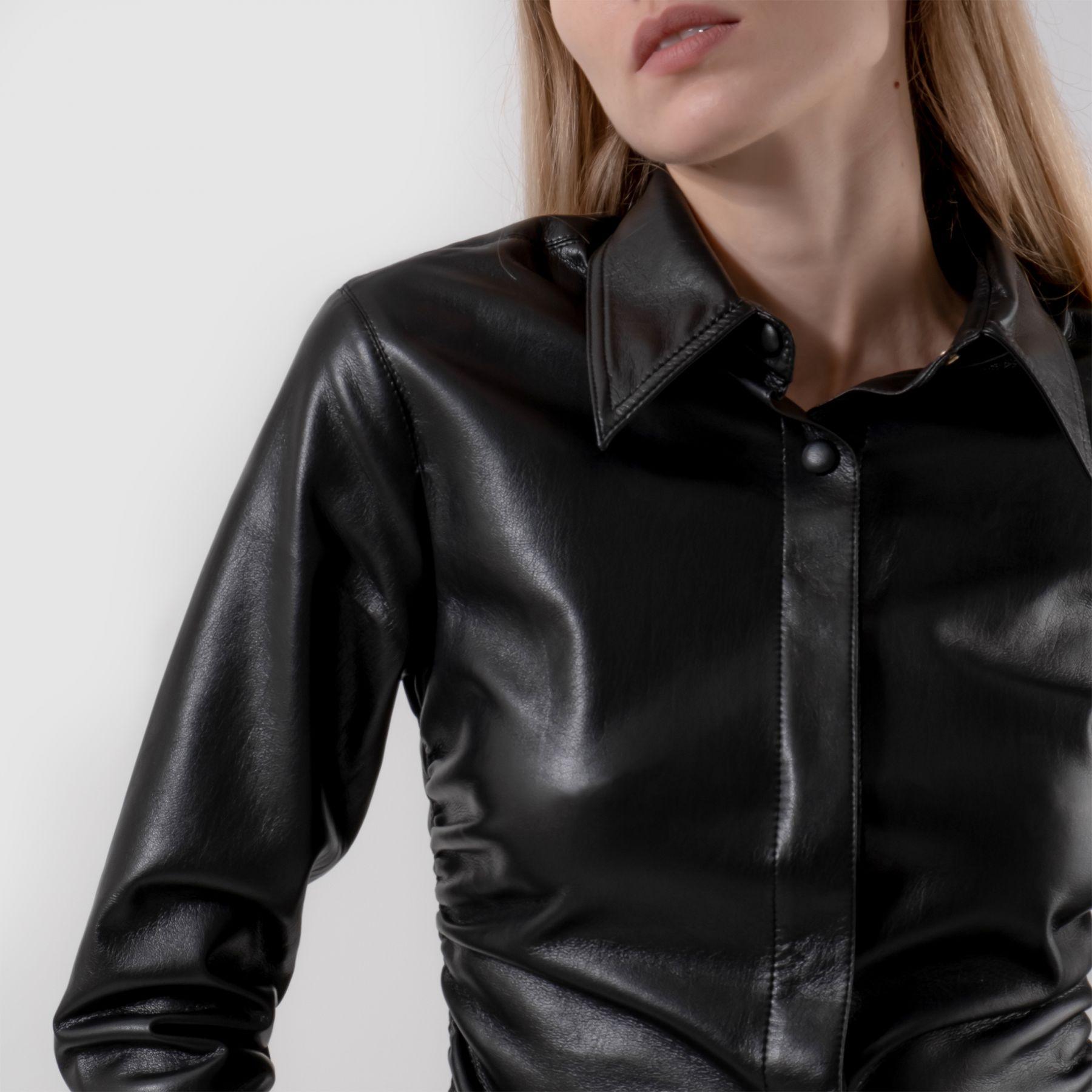 Рубашка с длинными рукавами Nanushka черная