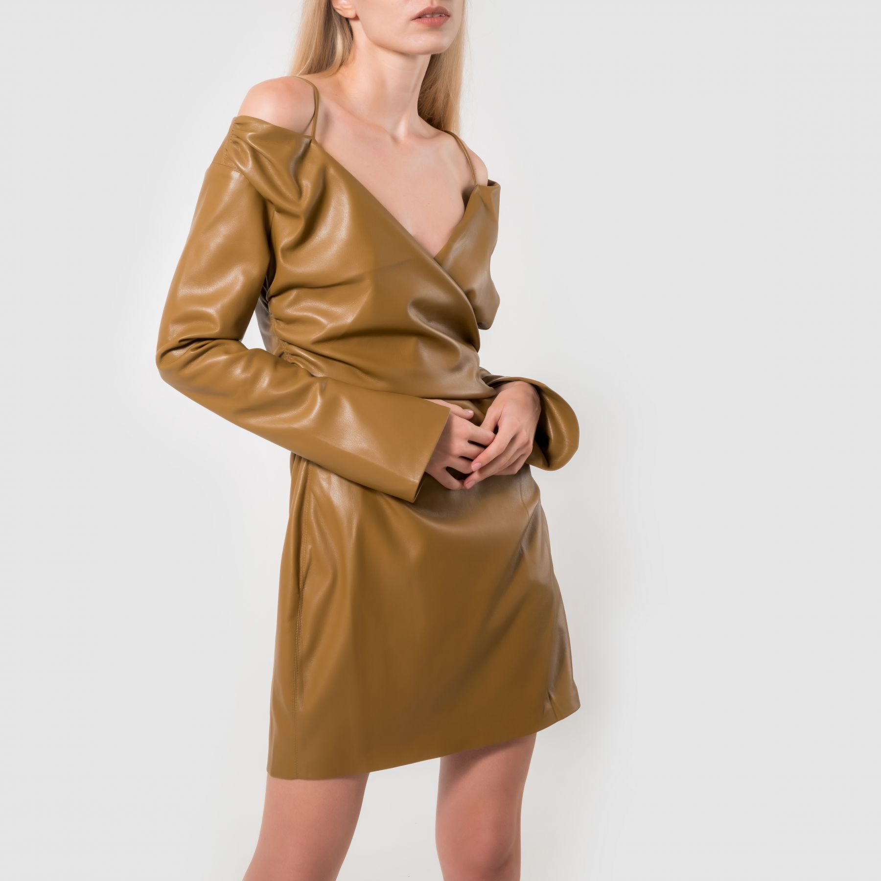 Платье Nanushka горчичное