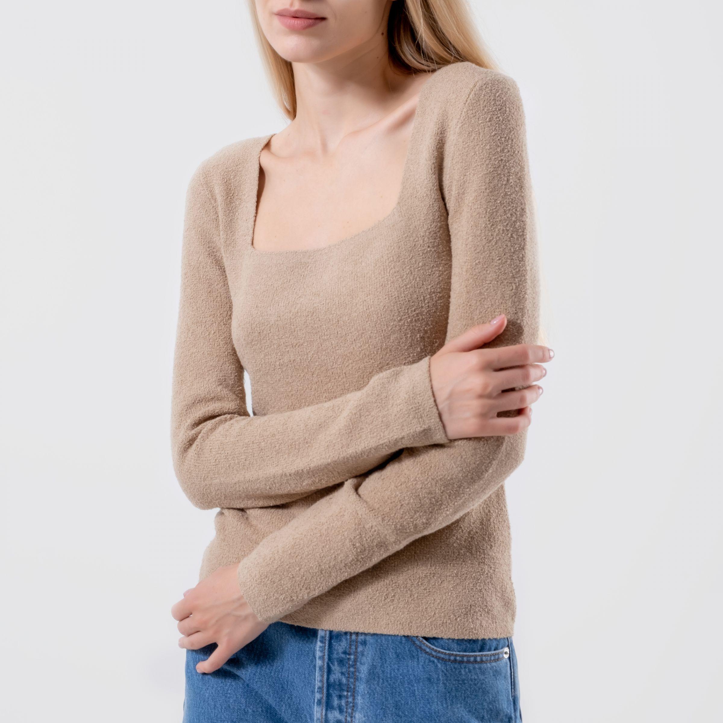Пуловер Nanushka Ambra бежевый