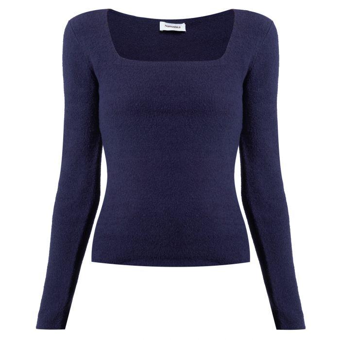 Пуловер Nanushka Ambra темно-синий