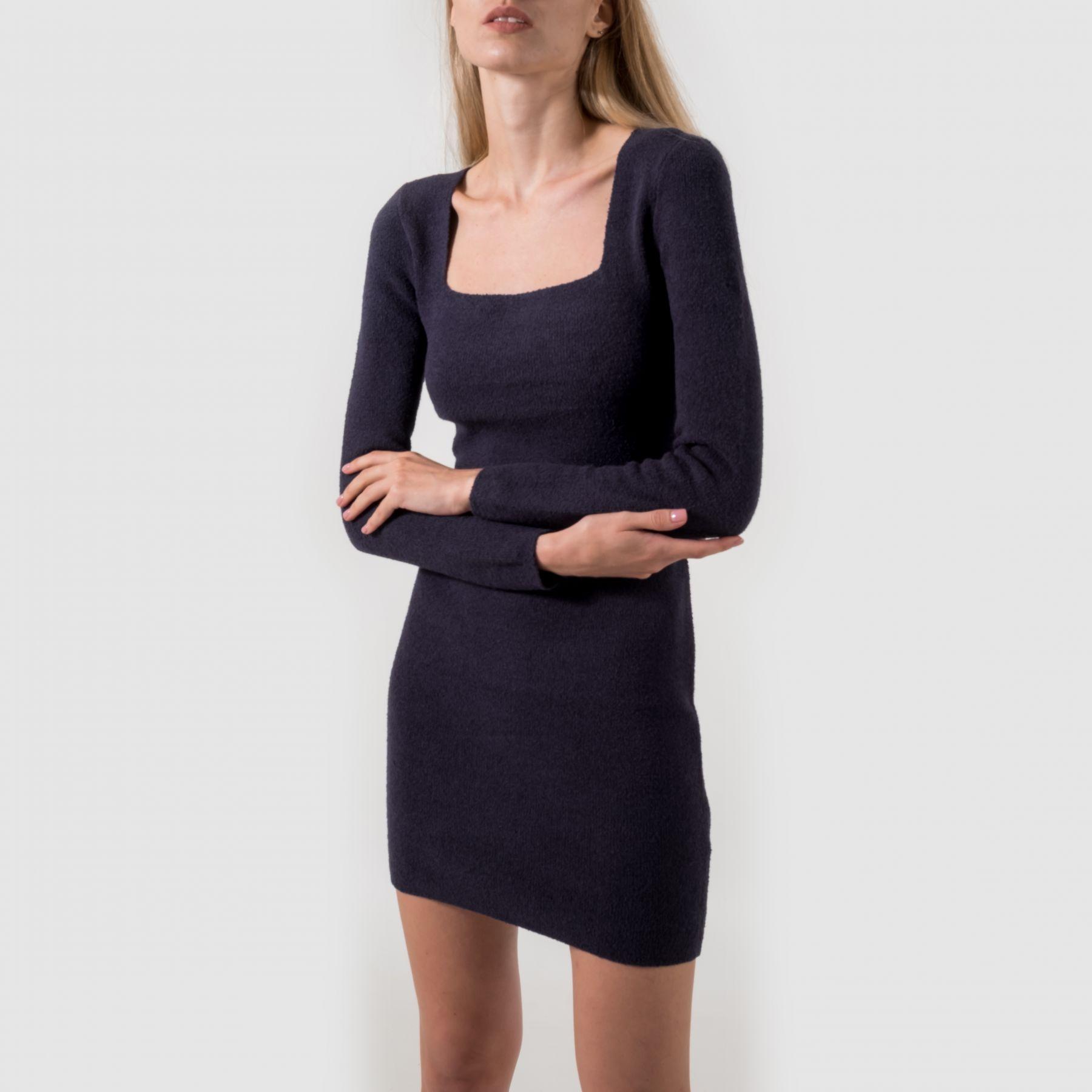 Платье Nanushka темно-синее
