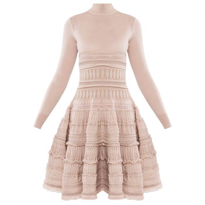 Платье Alaia бежевое