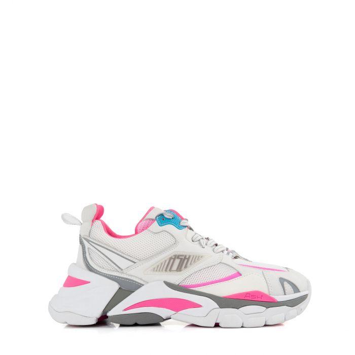 Кроссовки ASH бело-розовые