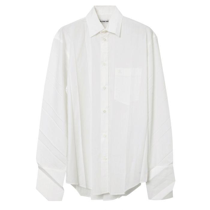 Рубашка длин.рук. Balenciaga белая