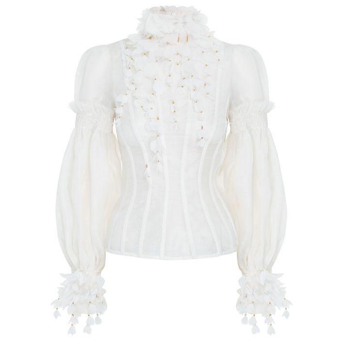 Блуза Zimmermann Botanica Wattle белая