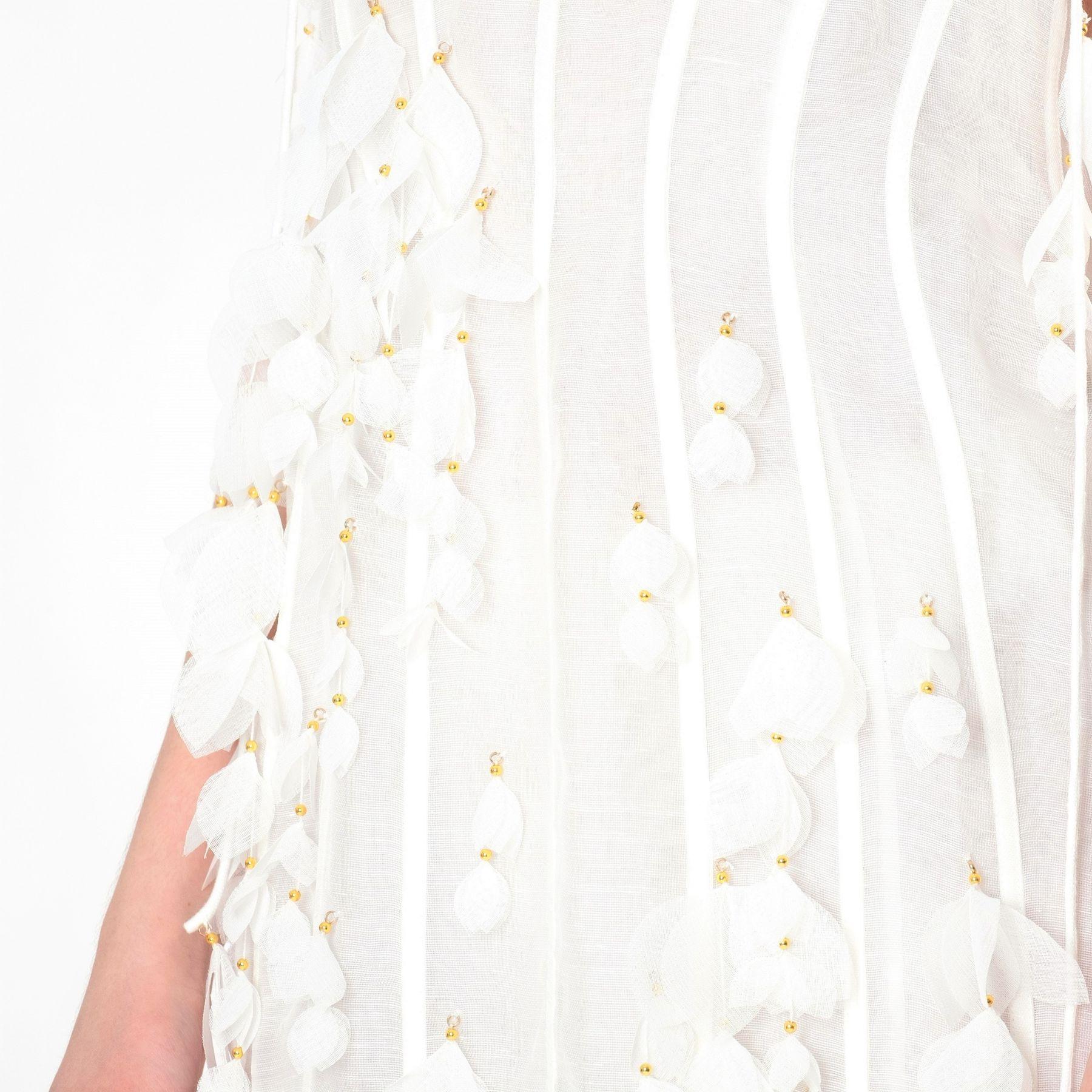 Сарафан Zimmermann Botanica Petal белый