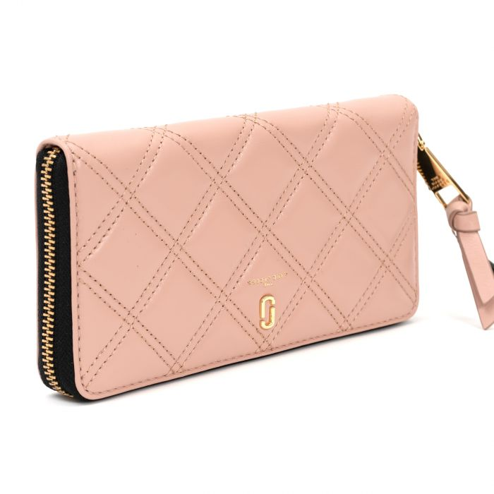 Портмоне Marc Jacobs The Quiled Softshot розовое