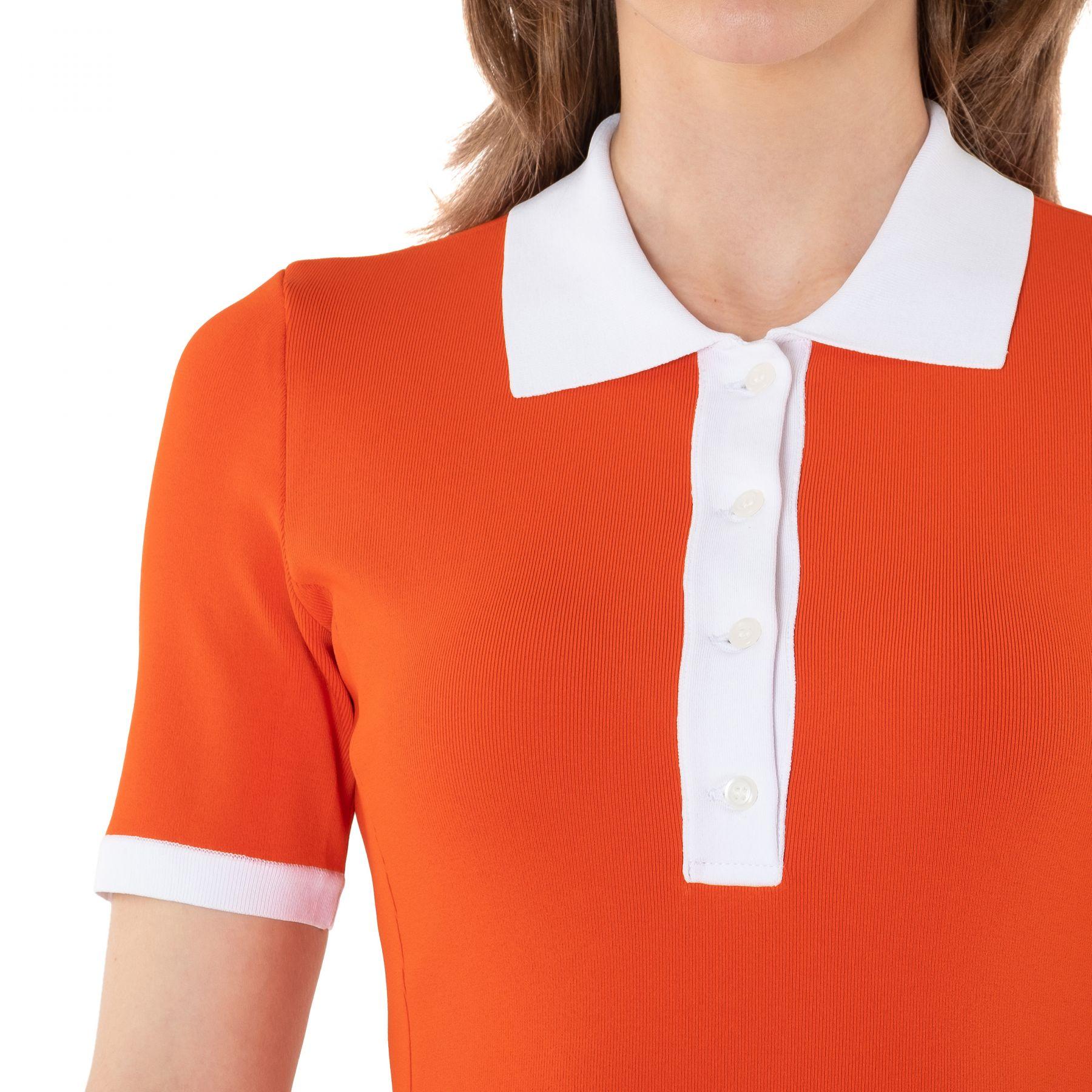 Платье David Koma оранжевое