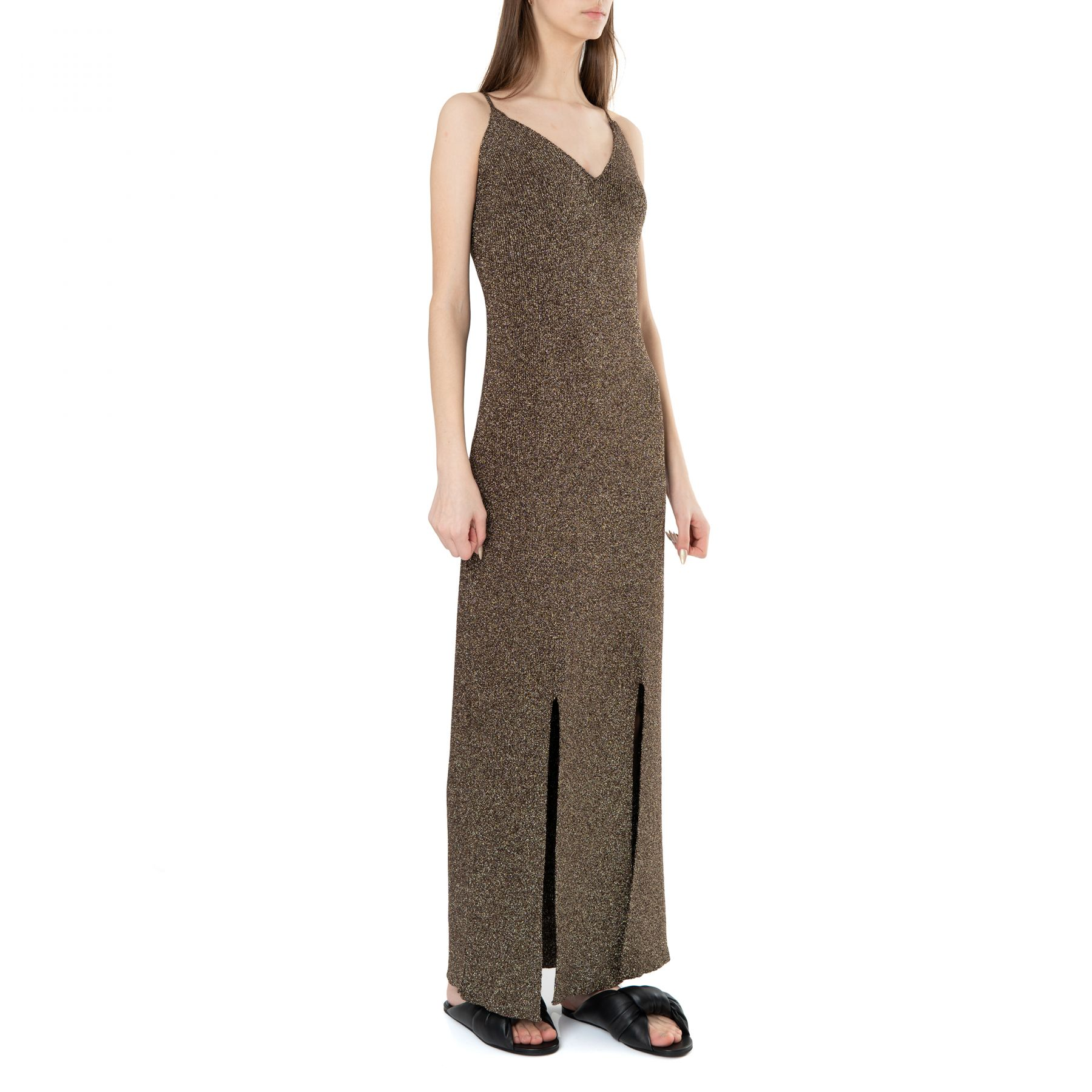 Платье Ganni коричневое